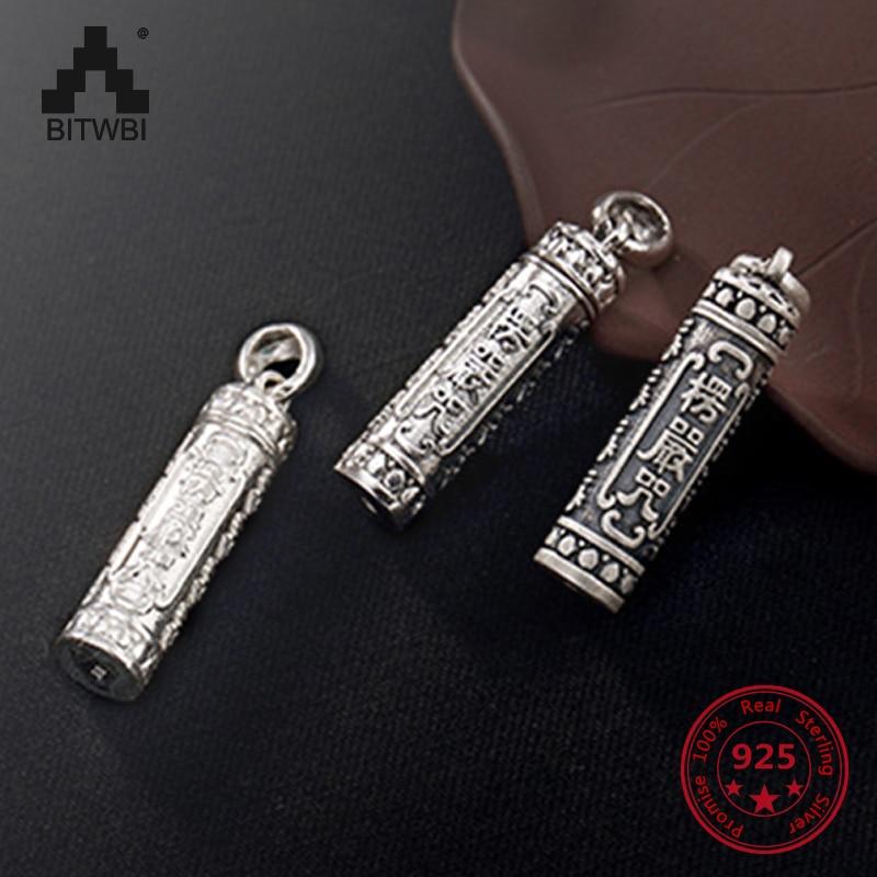 1c349870d3af S990 de plata esterlina antigua personalidad abierta caja colgante de  joyería para hombres y mujeres recuerdo regalo de la joyería