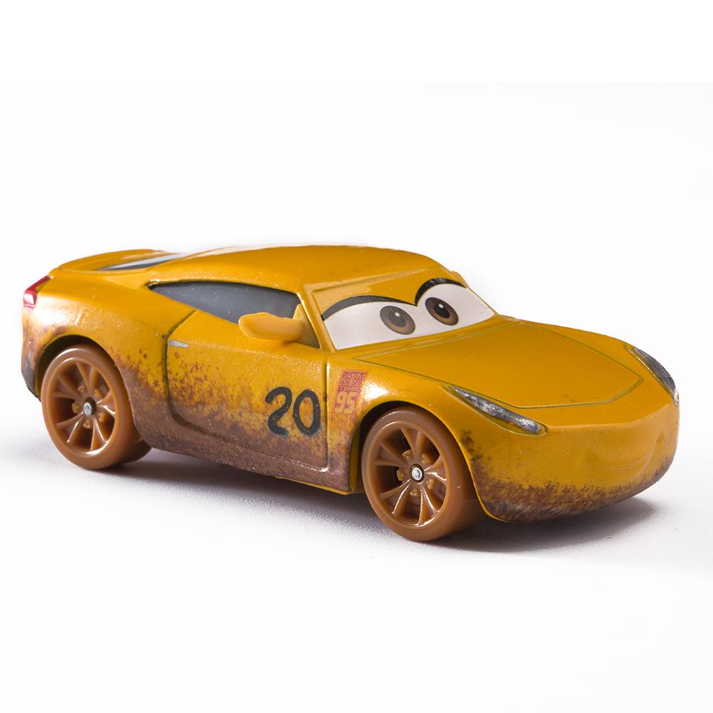 Disney Pixar Cars 3 Lightning McQueen Blue Jackson Storm Mater 1:55 Diecast Metal Alloy Model Car Toy Children Gift Boys