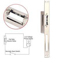 金属電気ストライク狭いタイプ12ボルトdcフェイルセキュアnc電動ドアロック用木製と金属ドアアクセス制御システ