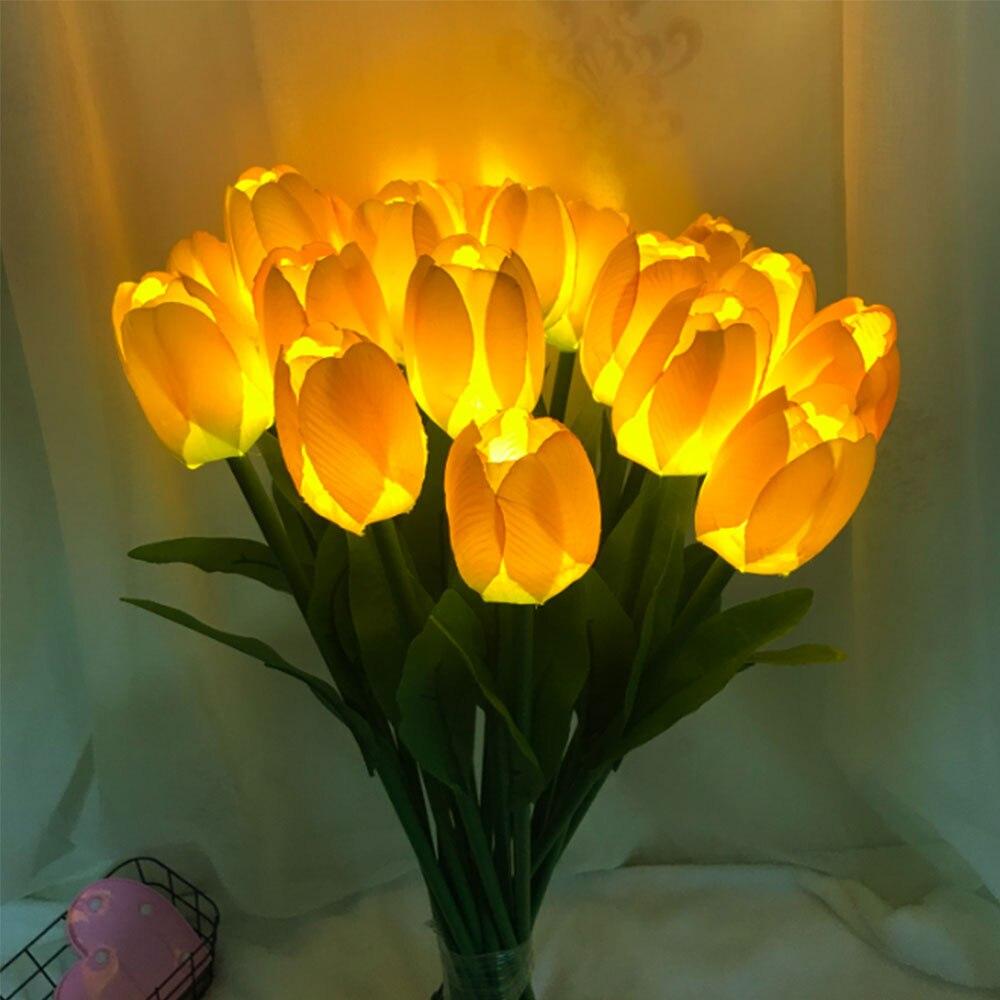 20Pieces Flower Light Tulip LED Garden Light AC96-220V Outdoor Waterproof Lawn Lamp For Yard Garden Landscape Street Square