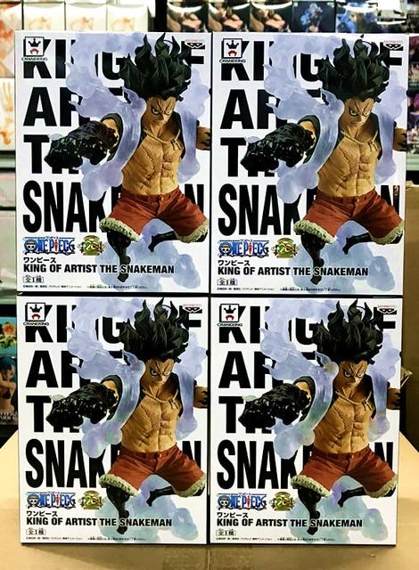 100% figurine originale de la Collection Banpresto roi de lartiste-le singe serpent D. Luffy de