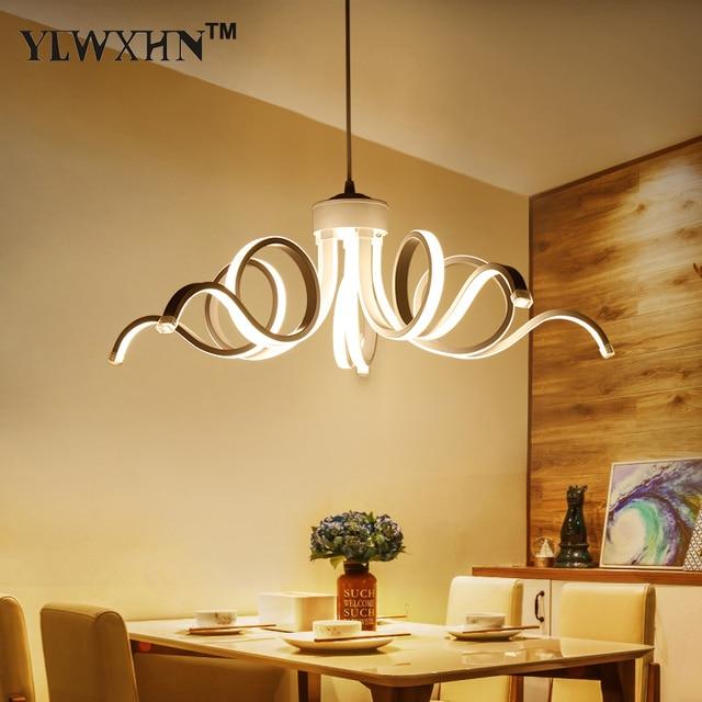 US $133.64 29% OFF|Suspension Leuchte Pendelleuchte Lamparas Moderne Lampe  Led leuchten Zu Einfache Wohnzimmer Kronleuchter Decke Leuchten Schnecke in  ...