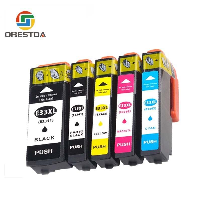 Obestda Compatible EPSON 33XL 33 cartucho de tinta para T3351 T3361 expresión Premium XP, 530, 540, 630, 640, 635, 645, 830, 900 impresora