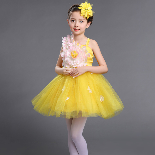 ae58205381c Fancy Beautiful Children Short Ball Gown Prom Pageant Wedding Dress  Birthday Party Frocks for Little Girls Flower Designer Dress