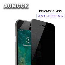 Tempered Glass Screen Protector For iPhone 7 6 6S Plus Privacy Glass Film For iPhone X Protective Glass Anti glare free shipping