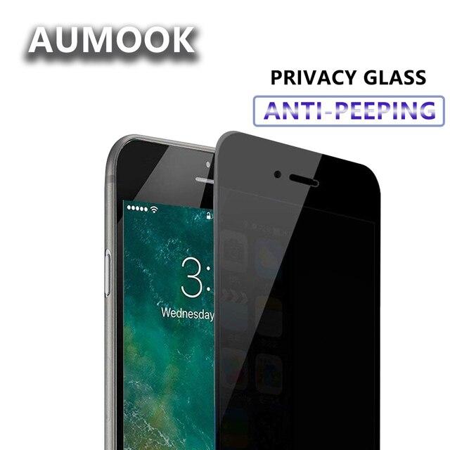 Закаленное Стекло Экран протектор для мобильного телефона iPhone 7 6 6S Plus конфиденциальности Стекло пленка для iPhone х Защитный Стекло с антибликовым покрытием Бесплатная доставка