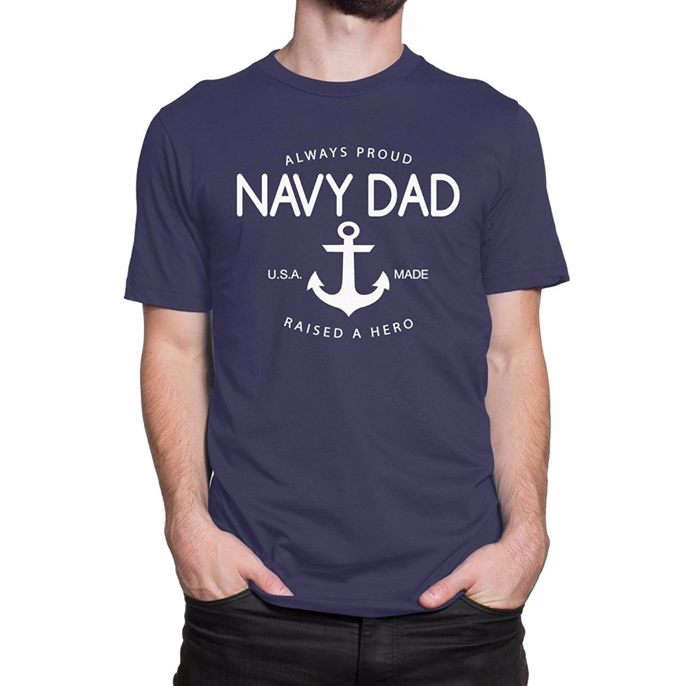 2019 New Men's Cotton T-shirt proud Navy Daddy Men Print Movie T-Shirt 100% Cotton Fashion Tee Shirts image