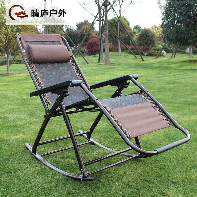 Portátil plegable al aire libre silla mecedora reclinable salón de ...