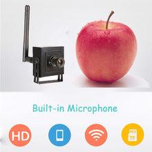 1MP 720 P micro espía de audio inalámbrico de cámaras de Seguridad Ip HD Mini pequeño aseo cámara CCTV P2P oculta WiFi tarjeta sd de alarma DEL VEDIO IPCam