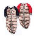 Bebê recém-nascido do inverno de lã listrada camisola Romper meninos menina roupas ropa bebes mameluco macacão disfraz navidad bebe barboteuse