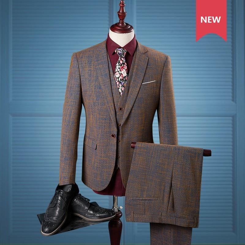 Fashion Mens Casual British Lapel Slim Fit Coat Jacket One-Button Pieced Blazer