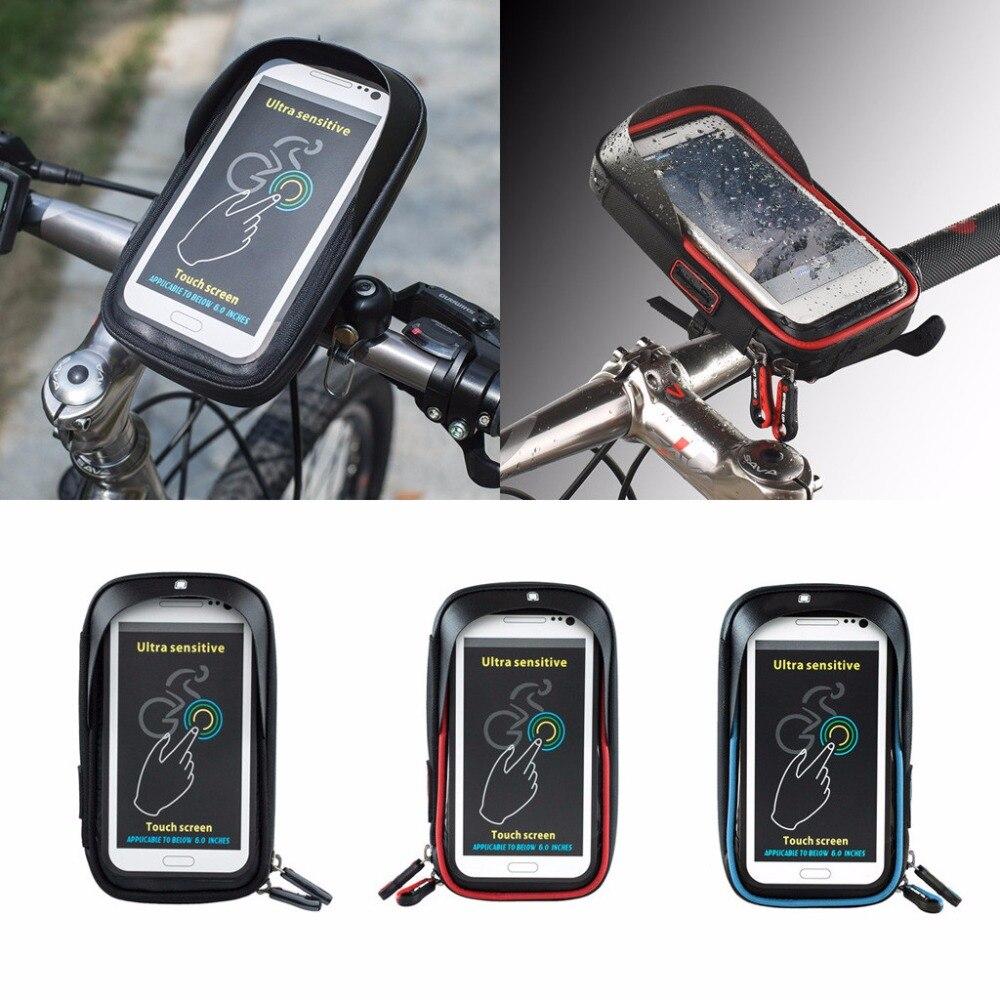 6 дюймов велосипед Велосипедный Спорт Водонепроницаемый сотового телефона, держатель мешка мотоцикла крепление для <font><b>iPhone</b></font> 7 6 S Samsung Galaxy S8 S7 LG G6 &#8230;