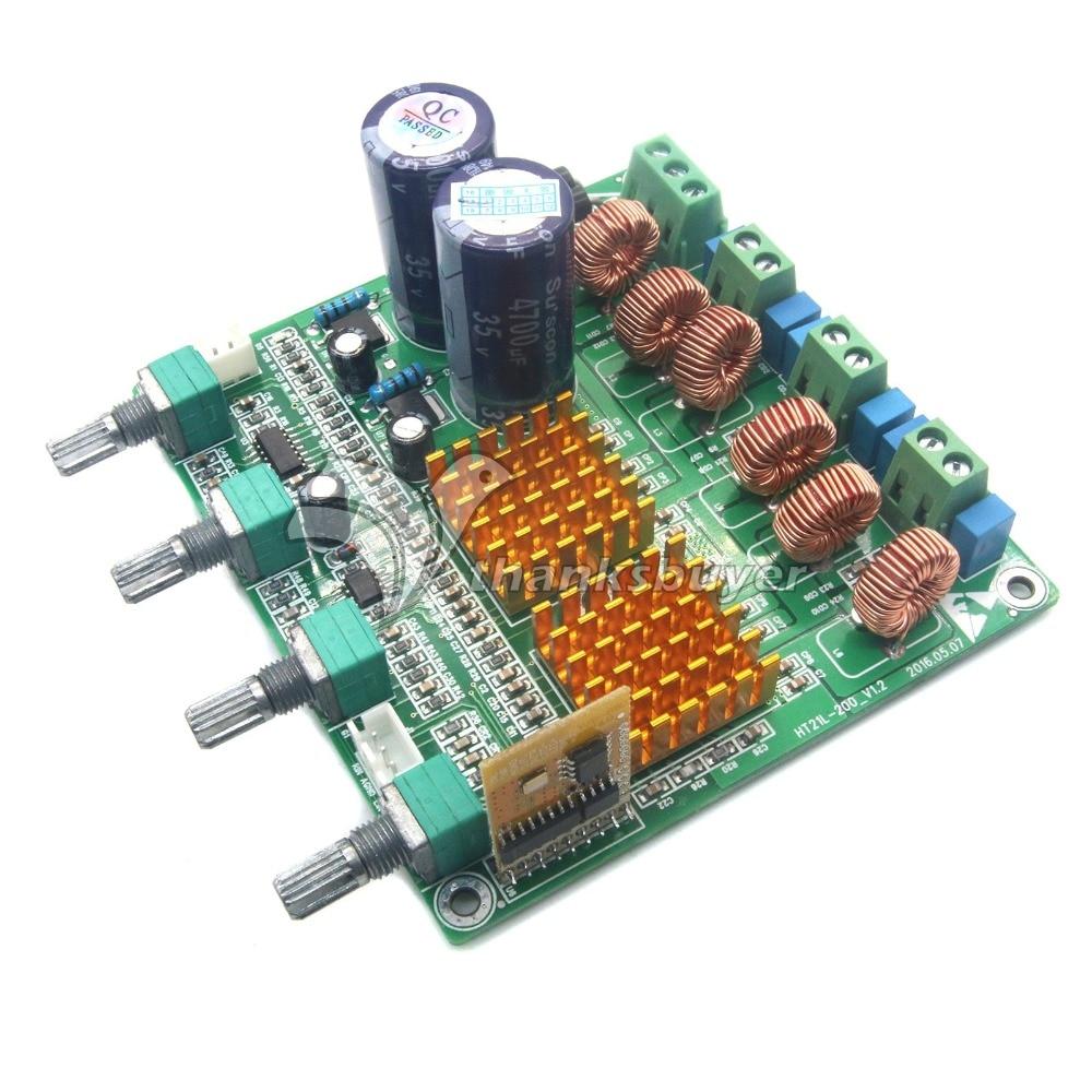 <font><b>Bluetooth</b></font> 4.0 приемник цифрового 2.1 класса D HiFi Мощность Усилители домашние доска 3CH Super Bass AMP лихорадка TPA3116D2 100 Вт + 50 Вт + 50 Вт