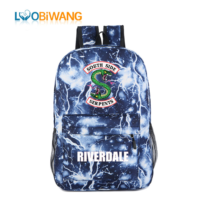 New Style Riverdale Backpacks for Teenager Boys and Girls Starts Flash  Space Schoolbag Students Bookbag Kids 3c8eaa75df691