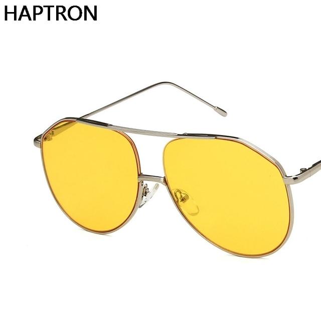 d5bde9626 Oculos De Sol Feminino 2019 New Retro Round Circle Glasses Women Sunglasses  Yellow Lens Mens Glasses Goggles
