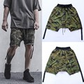 Kanye West Fear Of God Shorts Bibb Camouflage Shorts Men And Women Streamers Flying Squirrel Casual Heren Cross-shorts
