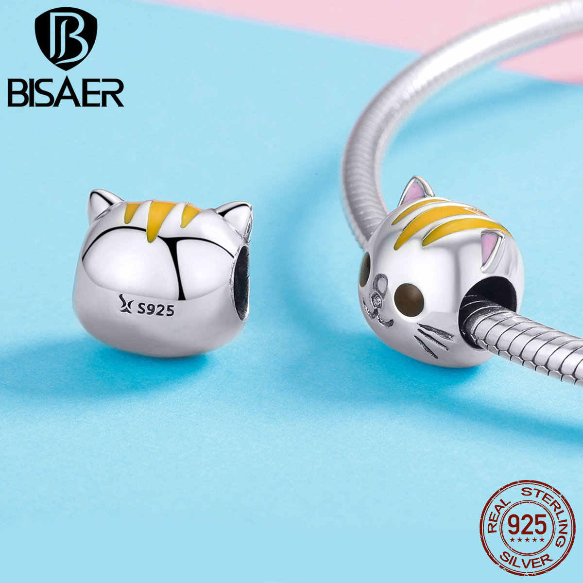BISAER Diy Charms 100% 925