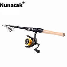 Promo offer Nunatak   Fishing Rods Reels Combo 11+1BB Spinning Reel TREANT 2000/3000 5.2:1 Fishing Wheel+ 2.1/2.4M  Spinning Rod