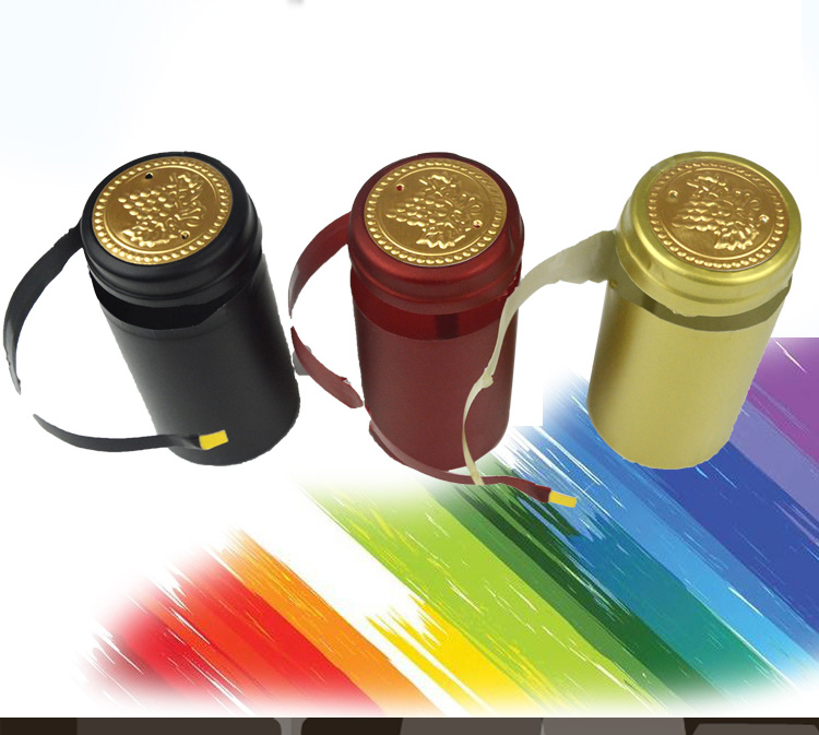 100pcs Pvc Heat Shrink Cap High Quality Home Brewing Wine Bottle Cover Wine Cap Bottle Seal Bar DIY Accessories