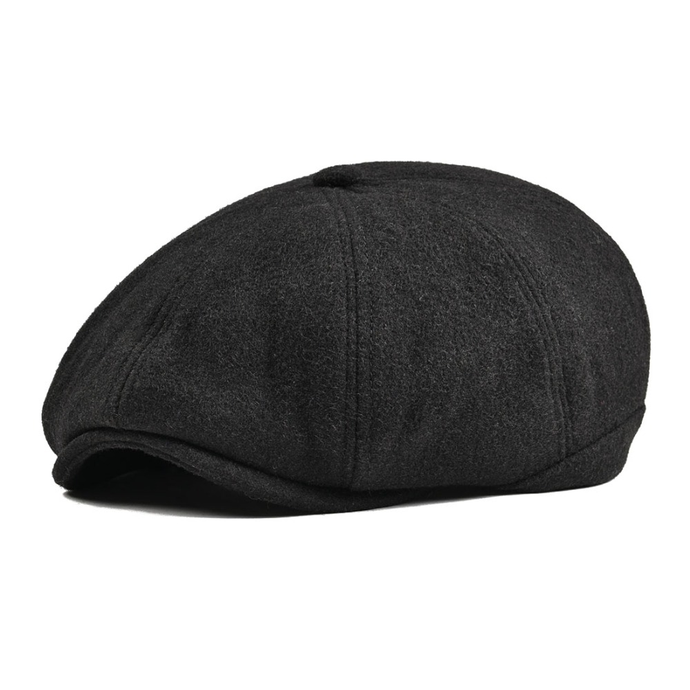 f222054d1 US $19.99 |VOBOOM Women Men Tweed Woolen Newsboy Cap Herringbone 8 Panel  Country Baker Boy Ivy Flat Cap Gray Black Beret Hats Boina 111-in Newsboy  ...