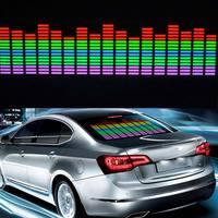 New Car Sticker Music Rhythm LED Flash Light Lamp Colorful Flash Sound Activated Equalizer Car Atmosphere Led Light CSL2017
