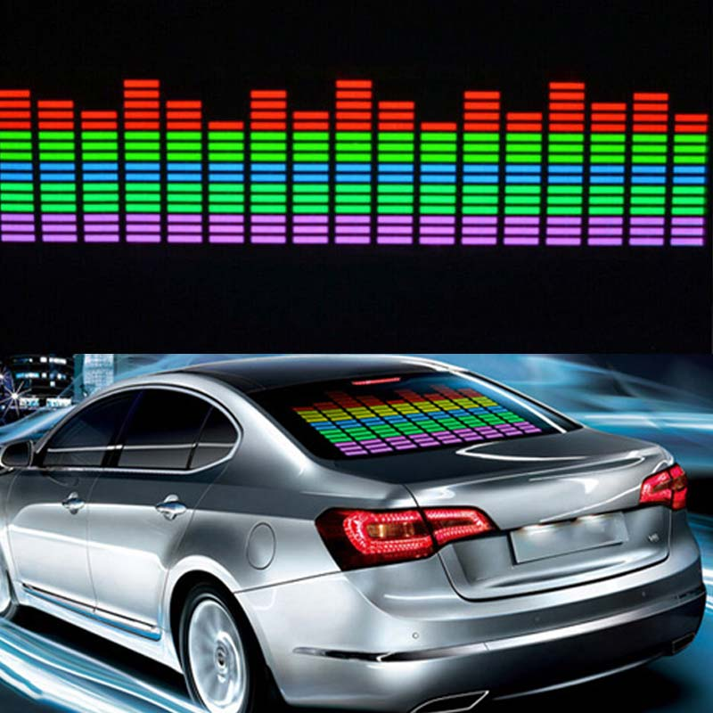 New font b Car b font Sticker Music Rhythm LED Flash Light Lamp Colorful Flash Sound