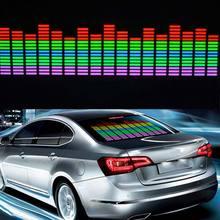 Новый автомобиль стикер Музыка Ритм светодиодная вспышка свет лампы Красочный флэш-звук включен эквалайзер автомобиля атмосфера светодиодные CSL2017