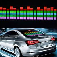 New Car Sticker Music Rhythm LED Flash Light Lamp Colorful Flash Sound Activated Equalizer Car Atmosphere