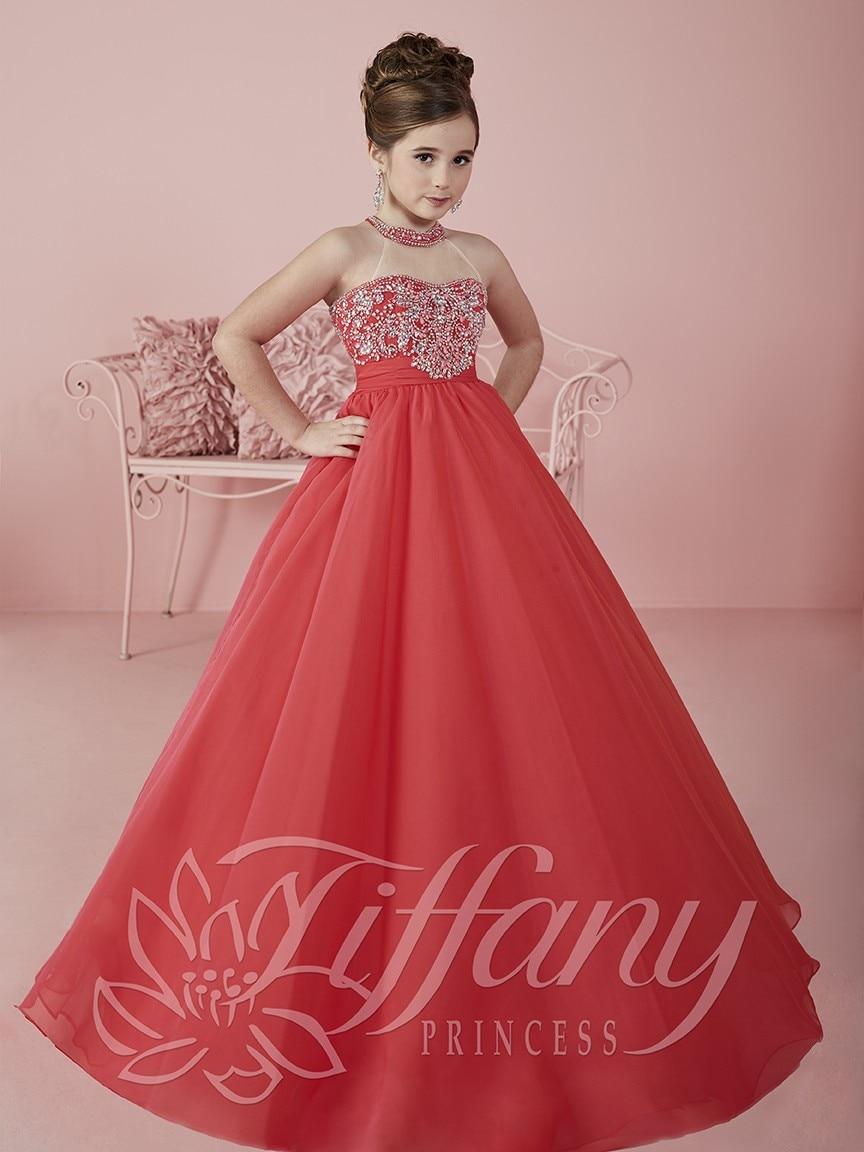 Ball Gowns Halter Flower Girls Pageant Dresses for Little Girls Hot ...