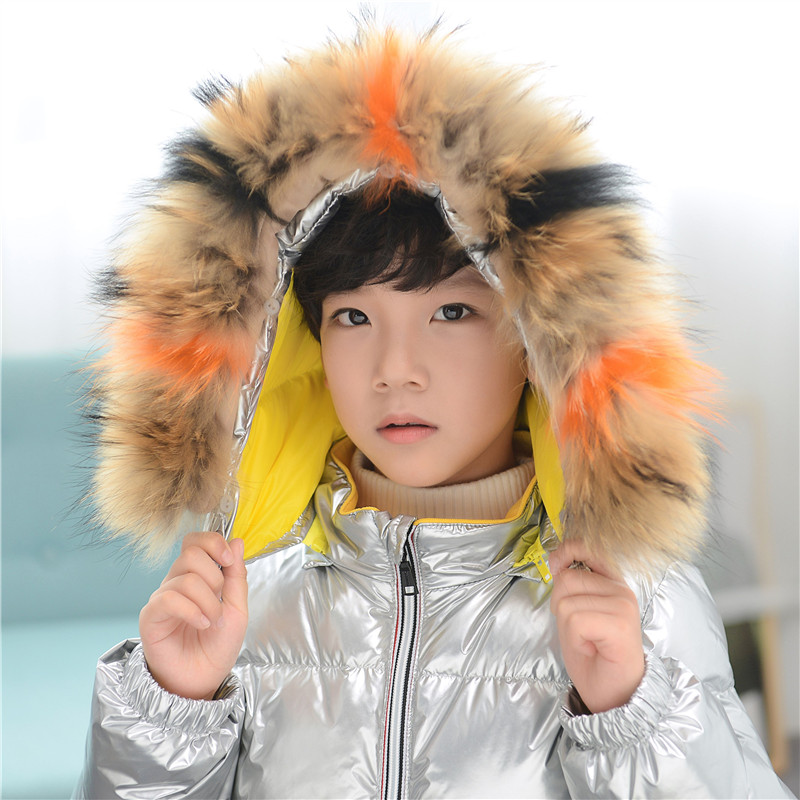 Boys Girls Jackets For Silver Boys Childrens Winter Down Clothing Kids Hooded Fur Collar Padded Jacket Parka Overcoat 3-15 YearBoys Girls Jackets For Silver Boys Childrens Winter Down Clothing Kids Hooded Fur Collar Padded Jacket Parka Overcoat 3-15 Year