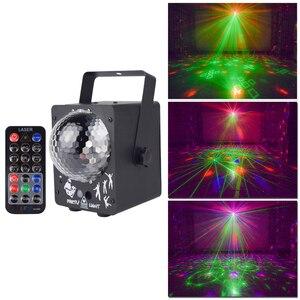 Image 2 - ALIEN RGB LED kristal disko sihirli top ile 60 desenler RG lazer projektör DJ parti tatil Bar noel sahne aydınlatma etkisi