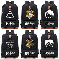 Magic Shool Deathly Hallows Muggle Boy Girl Children School bag Women Bagpack Teenagers Schoolbags Canvas Men Student Backpack