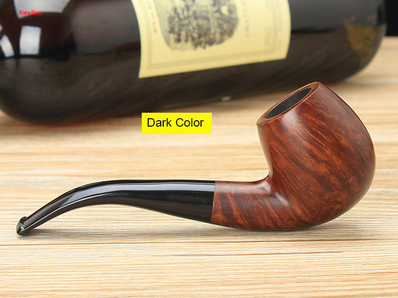 ft3-Briar Wood Handmade 3 Colors 9mm Activated Carbon Arylic Bent Mouthpiece