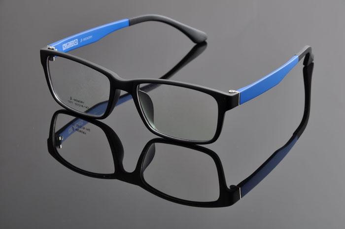 Новые модные очки Ретро винтажные металлические простые оправы оптические очки мужские женские оправа для очков от близорукости oculos de grau DD0877 - Цвет оправы: BLACK BLUE