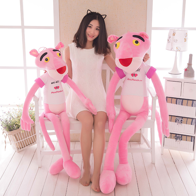 HOT toys creative soft plush doll Baby Toys Plaything Cute Naughty Pink Panther Plush Stuffed Doll Toy Home Decor gifts for kids
