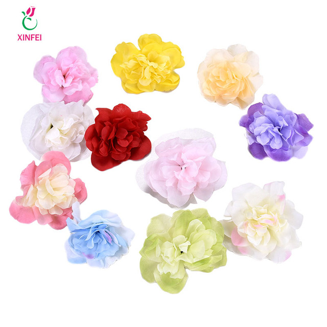 Xinfei 10cm pretty rose flower head artificial flowers for wedding xinfei 10cm pretty rose flower head artificial flowers for wedding decoration ball craft fake flowers 5pieces mightylinksfo
