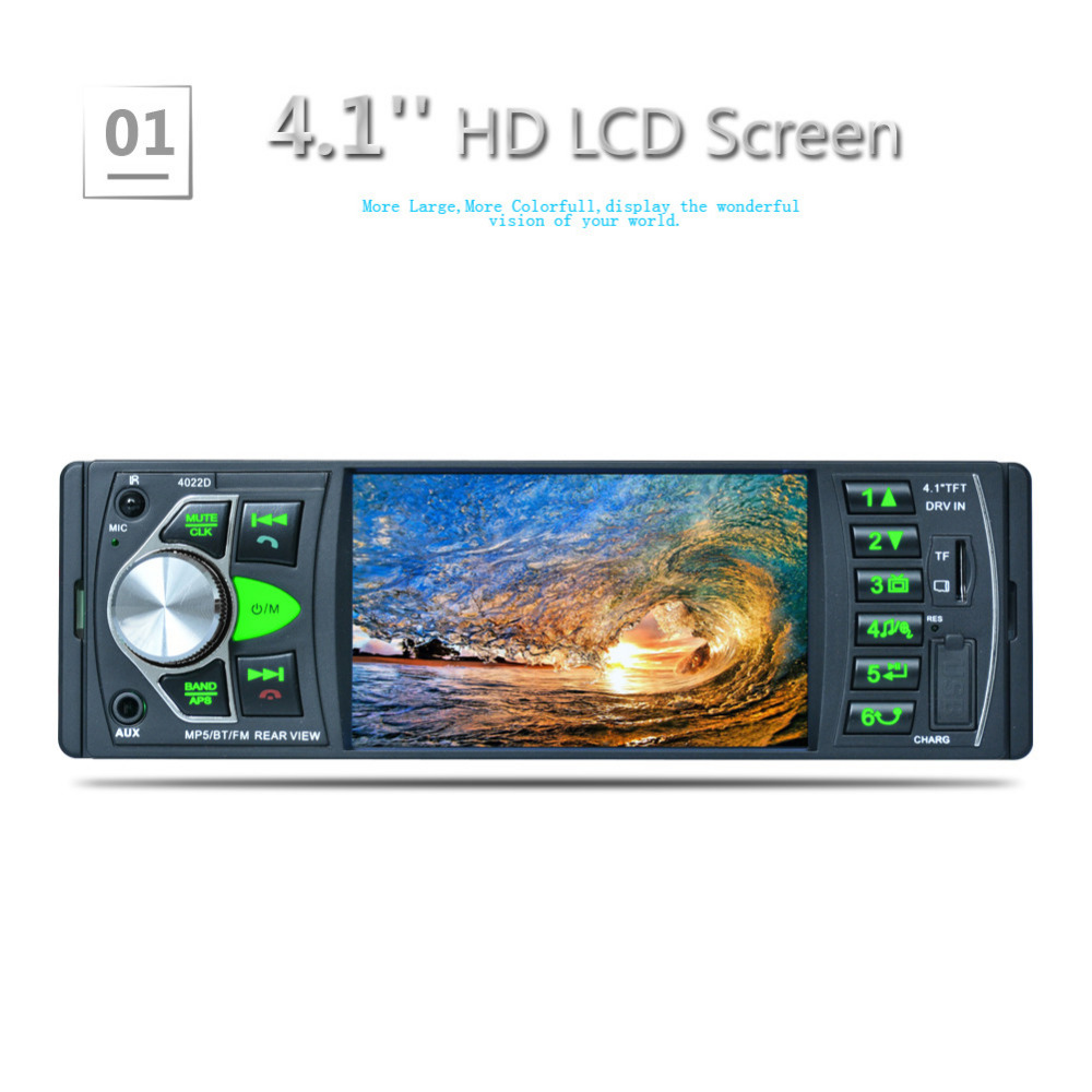 Bluetooth Car Radio Music Player without Rear View Camera Support MP5/MP4/MP3/FM Transmitter with Remote Control 4022D Car Video