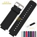 Correa de la venda de reloj de Goma de silicona banda relojes de pulsera Inteligente para Garmin 24*15mm Convexa cinturón interfaz herramientas Gratuitas