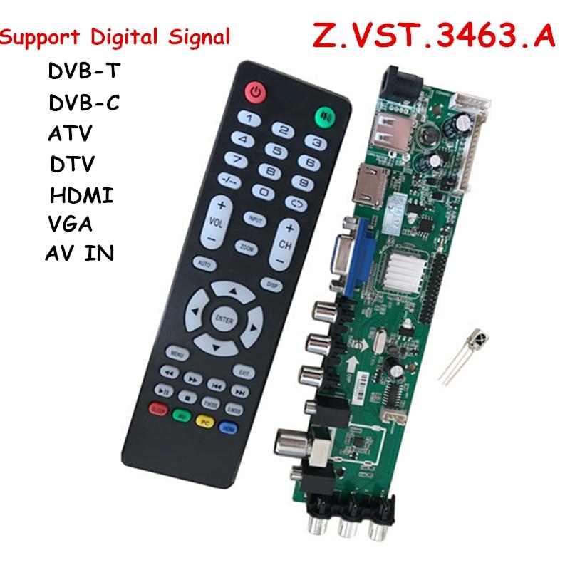 Z.VST.3463.A Support DVB-C DVB-T DVB-T2 instead of T.RT2957V07 Universal LCD TV Controller Driver Board Better than V56