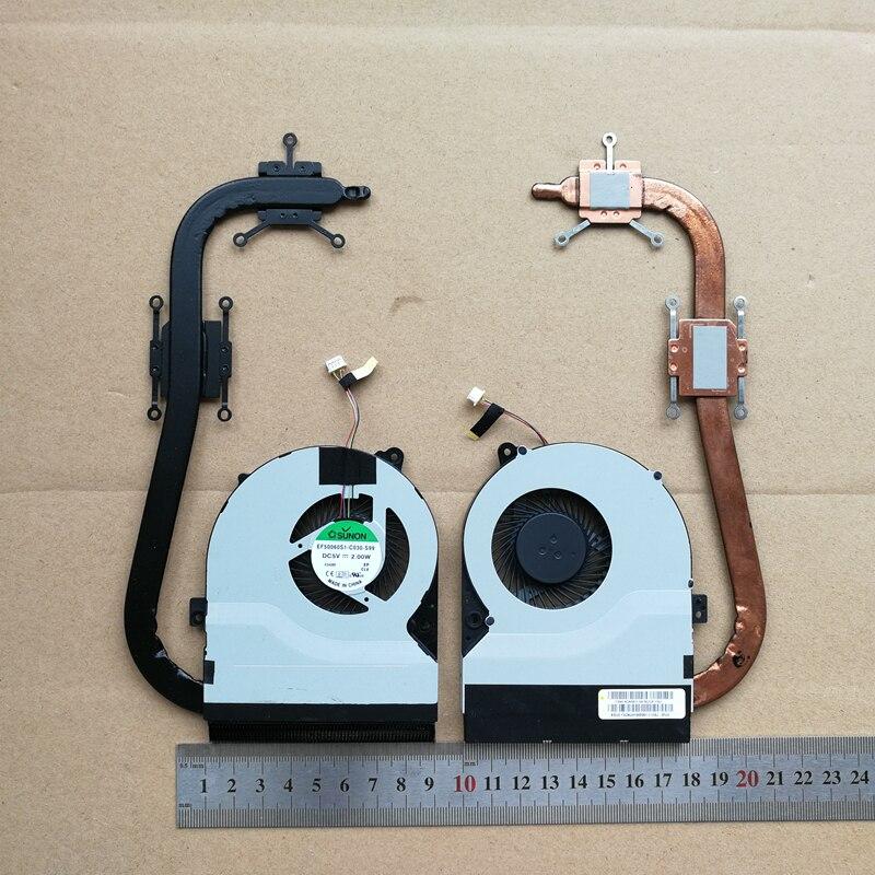 100% nuevo portátil cpu ventilador de refrigeración con disipador de calor para ASUS S56CB S56CA S56CM S56C K56C R505C 13n0-n3a0911