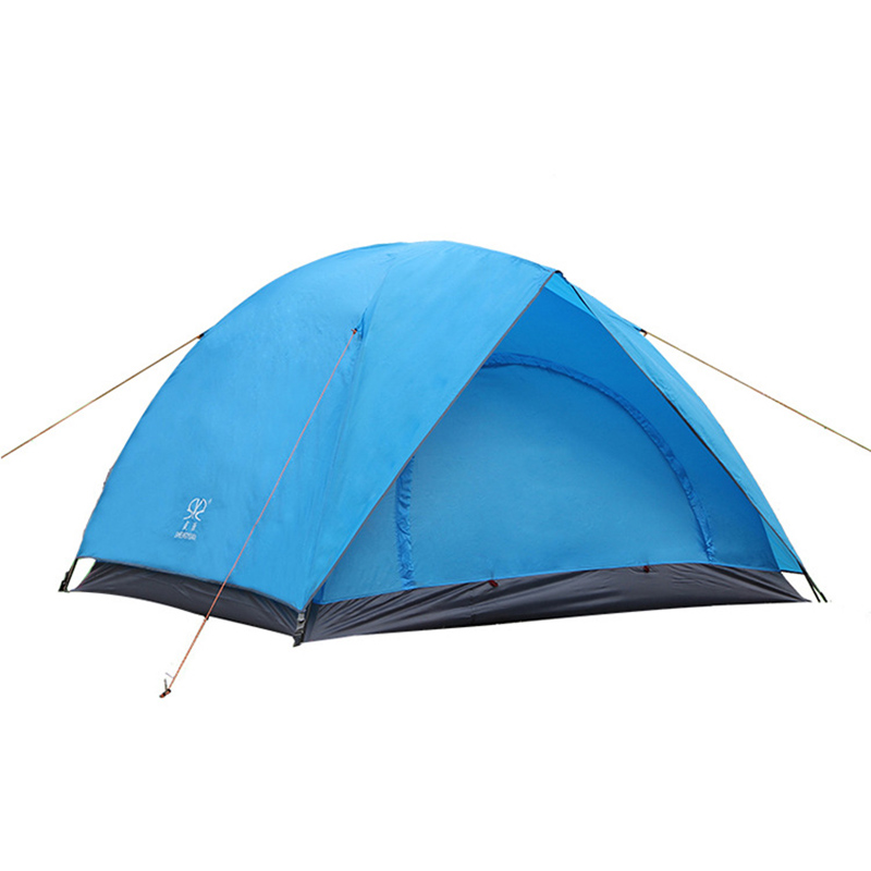 Outdoot Double Layers Waterproof Windproof Outdoor Tent Hiking Camping Travel Family Tourist Fish Anti-UV Fully Sun Shade outdoor camping hiking automatic camping tent 4person double layer family tent sun shelter gazebo beach tent awning tourist tent