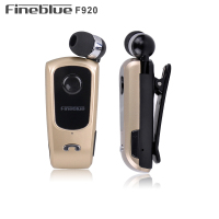 FINEBLUE F920 Wireless Earphone Bluetooth Handsfree Earbuds Headset Calls Remind Vibrator Wear Clip Driver For Phone