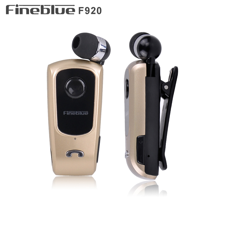 FINEBLUE F920 Wireless Earphone Bluetooth Handsfree Earbuds Headset Calls Remind Vibrator Wear Clip Driver for phone with Mic