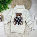 2016 New Cartoon Autumn Winter Baby Boys Girls Kids Children's Babi Warm Turtleneck Sweaters Pullover Cardigans Top clothes Out