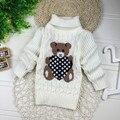 2016 Novos Dos Desenhos Animados Outono Inverno Do Bebê Das Meninas Dos Meninos das Crianças dos miúdos Babi Quente Blusas de Gola Alta Pullover Cardigans Top roupas Para Fora