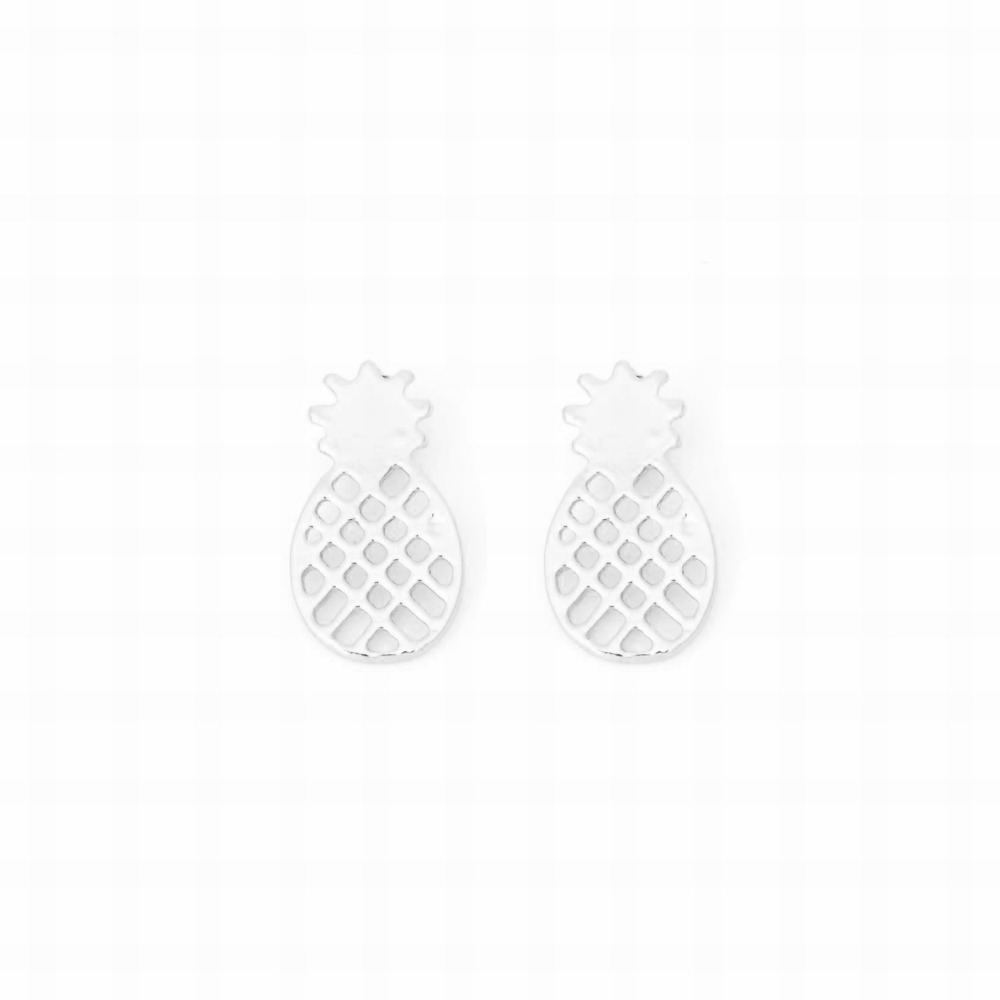 Minimalist Cute Pineapple Stud Earrings For Lady Gold Silver Plated Alloy  Fruit Ear Bff Jewelry Fashion Small Gift For Girlin Stud Earrings From  Jewelry