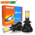 CNSUNNYLIGHT COB Led Car Headlight Kit H7 H11 HB3 HB4 9005 9006 80W 8000LM White Bulb for Automotives Fog Lamp Play & Plug