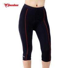 Фотография Tasdan Sportswear Women Cycling Clothing Custom  Cycling Tights 3/4 Pants Bicycle Gel 3D Coolmax Padded Bike Short Pants