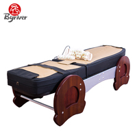 BYRIVER Deluxe Migun Similar Jade Stone Thermal Massage Bed Table Mattress Massager 9+6 Roller
