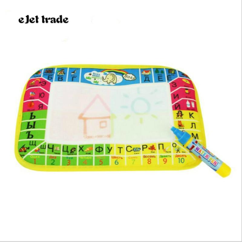2017 Hotsale 29X19cm  Mini colorful Water Drawing Rug &1 Magic Pen/Water Drawing Board Baby Play Mat free shiping